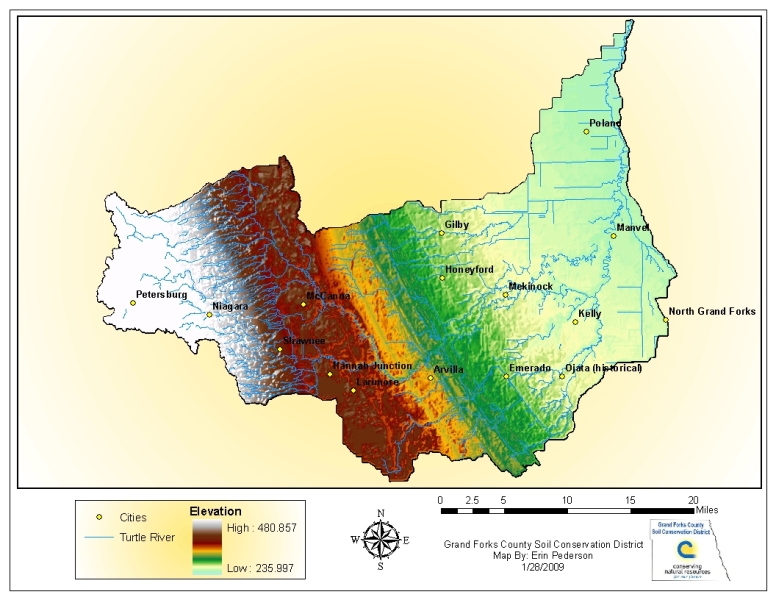 Watershed projects grand forks county soil conservation for Soil information in english